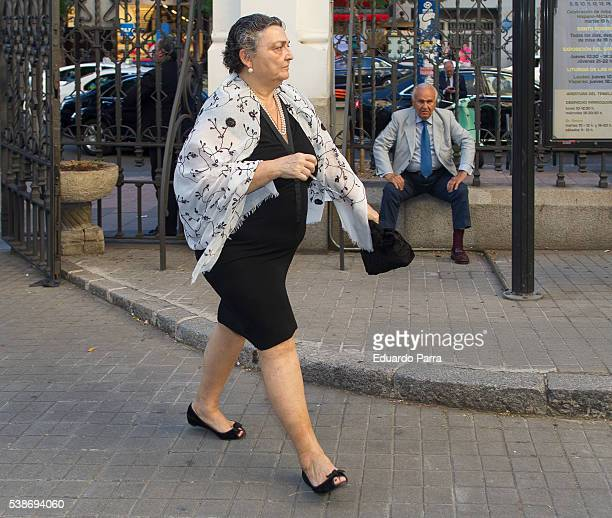 Elena Benarroch attends the Marquesa de San Eduardo funeral at La Concepcion de nuestra Senora church on June 7 2016 in Madrid Spain