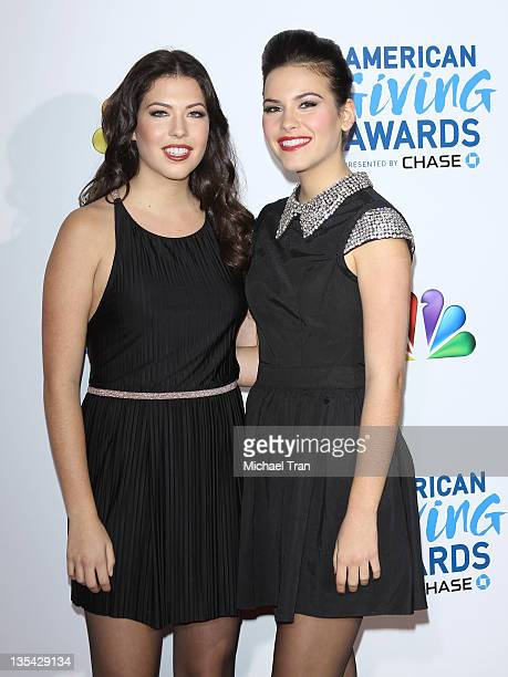 Elena Besser and Rachel Besser arrive at the 2011 American Giving Awards held at Dorothy Chandler Pavilion on December 9 2011 in Los Angeles...