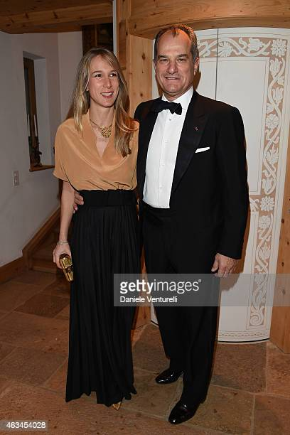 Elena Bonanno and Leonardo Ferragamo attend Bulgari High Jewelry Event St Moritz on February 14 2015 in St Moritz Switzerland