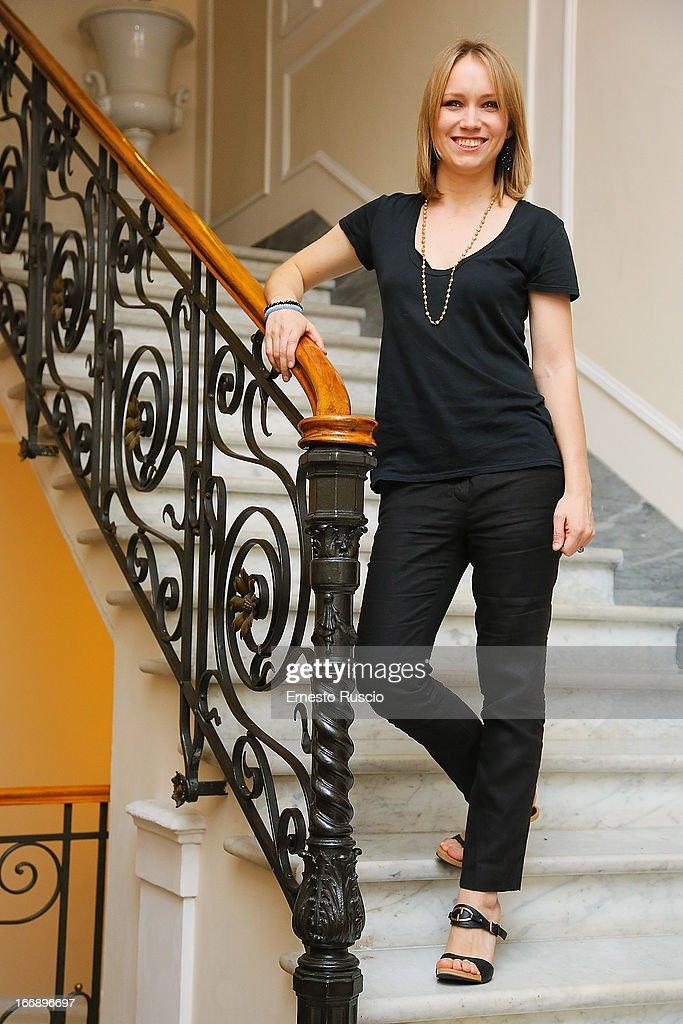 Elena Bouryka attends the 'Meglio Se Stai Zitta' photocall at Hotel Regina Baglioni on April 18, 2013 in Rome, Italy.