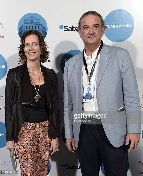 Elena Boyra and Carlos Boyan arrive to the Universal Music Rod Stewart concert at the Teatro Real on July 5 2016 in Madrid Spain