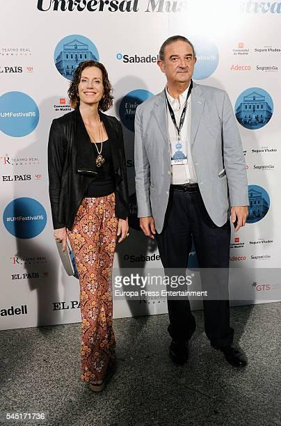 Elena Boyra and Carlos Boyan attend Rod Stewart concert at Royal Theatre on July 5 2016 in Madrid Spain