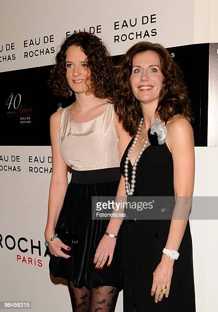 Elena Boyra and her daughter Macarena Boyra attend 'Eau de Rochas' 40th anniversay party held at the French Ambassador Residence on April 14 2010 in...