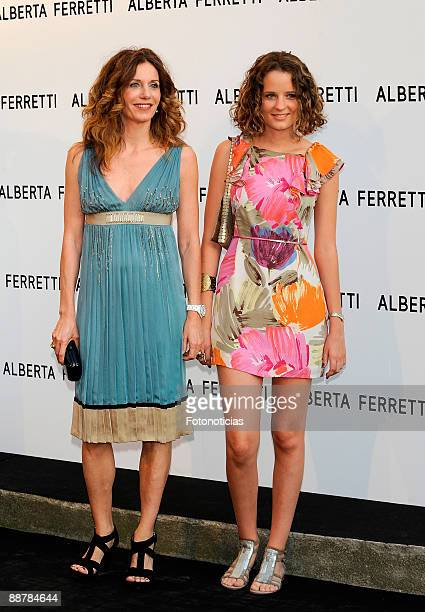 Elena Boyra and her daughter Macarena de Carvajal attend the Alberta Ferretti new fragrance launch cocktail party held at the Italian ambassador's...