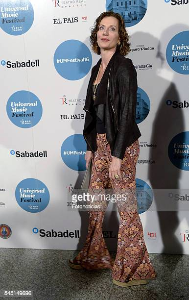 Elena Boyra arrives to the Universal Music Rod Stewart concert at the Teatro Real on July 5 2016 in Madrid Spain