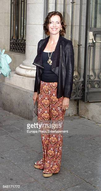 Elena Boyra attends Rod Stewart concert at Royal Theatre on July 5 2016 in Madrid Spain