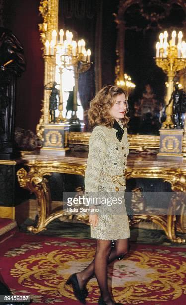 Elena Boyra Carvajal in the Royal reception of the Hispanity Day
