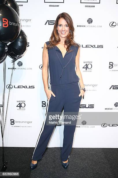 Elena Bruhn attends the Breuninger show during Platform Fashion January 2017 at Areal Boehler on January 27 2017 in Duesseldorf Germany