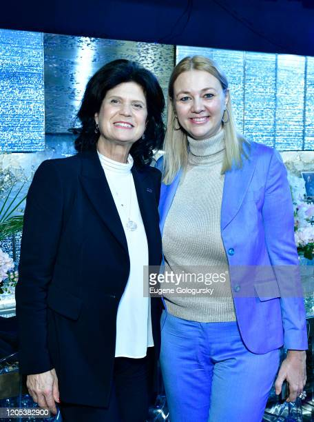 Elena Brunelli and Alisa Roever attend the Andrea Bocelli Foundation Lillian Gorbachincky Present First Annual Luncheon at AD Building on February 10...