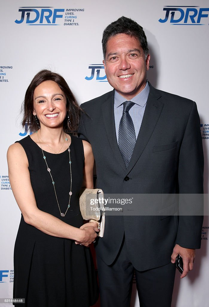 Elena Buckley and KTLA co-anchor Frank Buckley attend JDRF