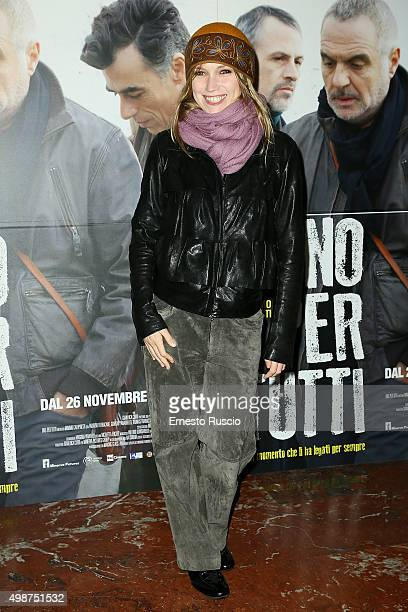 Elena Burika attends a premiere for 'Uno Per Tutti' at Cinema Adriano on November 25 2015 in Rome Italy