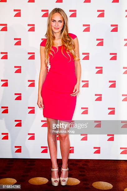 Elena C during the Germany's Next Topmodel 2016 Photo Call at the Marriot Hotel on March 21 2016 in Berlin Germany