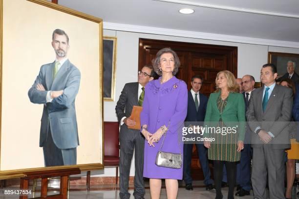 Elena CanoQueen Sofia Antonio Sanzand Juan EspadasQueen Sofia Attends 'Juan Antonio Carrillo Salcedo To Human Rights' Awards in Seville on December...