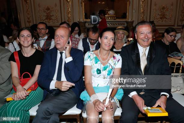 Elena Carrettoni Bernard Danillon Tania de Bourbon Parme and her husband LouisArnaud L'Herbier attend the Liu Lisi Paris Fashion Week Haute Couture...