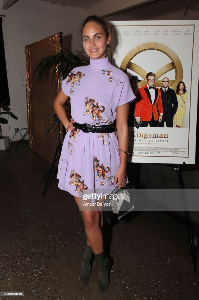 Elena Carriere attends a special screening of the new film 'Kingsman The Golden Circle' at Metrograph on September 13, 2017 in New York City.