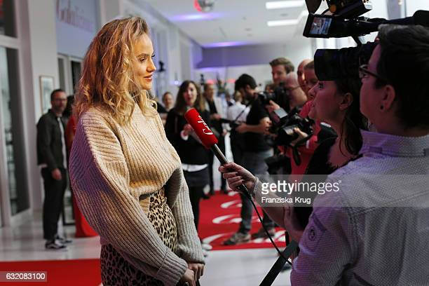 Elena Carriere attends the 'Gala' fashion brunch during the MercedesBenz Fashion Week Berlin A/W 2017 at Ellington Hotel on January 19 2017 in Berlin...