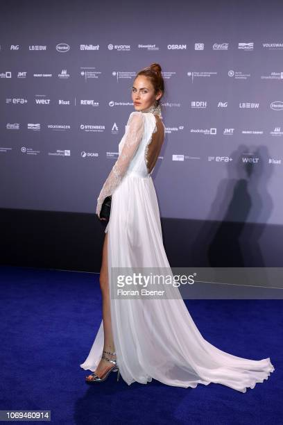 Elena Carrieres attends the German Sustainability Award at Maritim Hotel on December 7, 2018 in Duesseldorf, Germany.