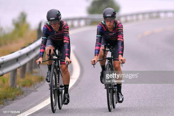 Elena Cecchini of Italy and eam Canyon SRAM Racing / Alexis Ryan of The United States and Team Canyon SRAM Racing / during the 4th Ladies Tour of...