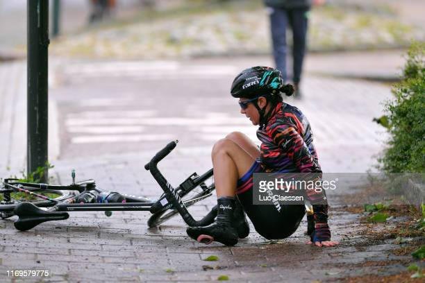 Elena Cecchini of Italy and Team Canyon Sram Racing / Crash / Mechanic / during the 6th Ladies Tour of Norway 2019, Stage 1 a 128km stage from...