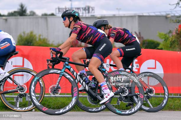 Elena Cecchini of Italy and Team Canyon - SRAM Racing / Ella Harris of New Zealand and Team Canyon - SRAM Racing / during the 18th Grand Prix De...