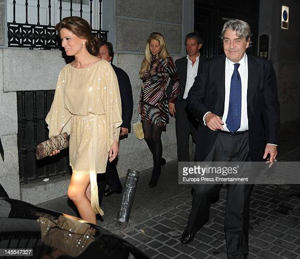 Elena Cue and Alberto Cortina attend a dinner in honour of designer Michael Kors on May 24 2012 in Madrid Spain