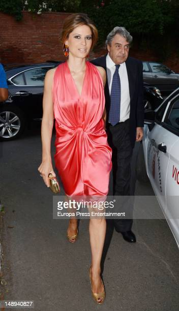 Elena Cue and Alberto Cortina attend a party at president of Airbus' home Domingo Urena on June 29 2012 in Madrid Spain