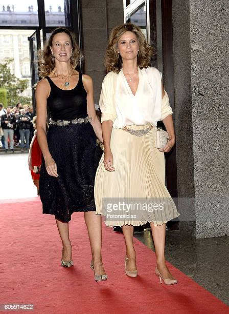Elena Cue and guest attend the Royal Theatre opening season concert on September 15 2016 in Madrid Spain