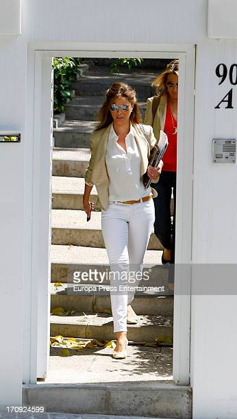 Elena Cue and Miriam Lapique are seen on May 22 2013 in Madrid Spain