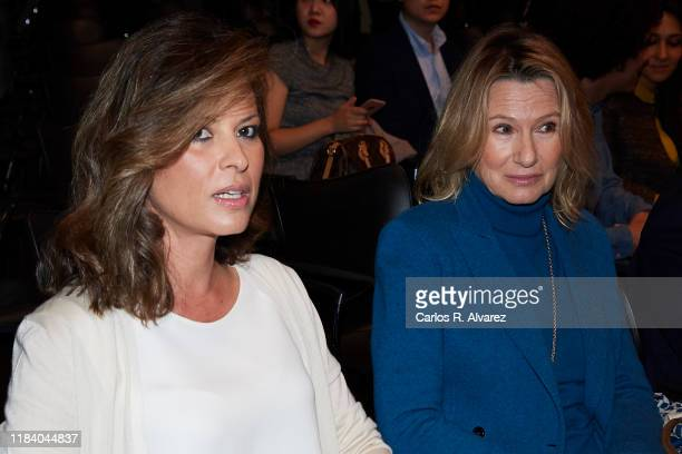 Elena Cue and Miriam Lapique attend 'Tiempos Recios' new book presentation at Casa America on October 28 2019 in Madrid Spain