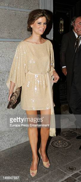 Elena Cue attends a dinner in honour of designer Michael Kors on May 24 2012 in Madrid Spain