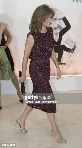 Elena Cue attends a dinner in honour of 'Mariano de Cavia' 'Mingote' and 'Luca de Tena' awards winners on October 26 2017 in Madrid Spain