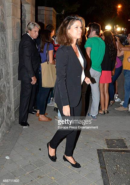 Elena Cue attends the funeral chapel for Isidoro Alvarez president of El Corte Ingles who died at 79 aged on September 14 2014 in Madrid Spain