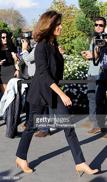 Elena Cue attends the funeral chapel for Miguel Boyer minister of Economy Treasury and Commerce from 1982 to 1985 at San Isidro Morgue on September...