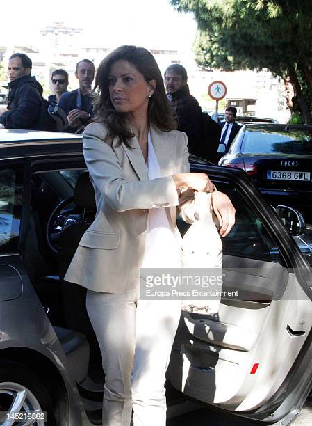 Elena Cue attends the funeral of president of Real Madrid Florentino Perez's wife Pitina Sandoval at La Almudena crematorium on May 23 2012 in Madrid...
