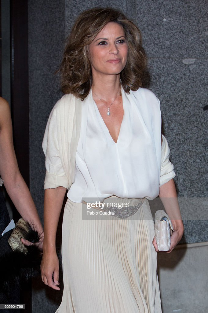 Elena Cue attends the inaguration of the Royal Theatre Season on September 15, 2016 in Madrid, Spain.