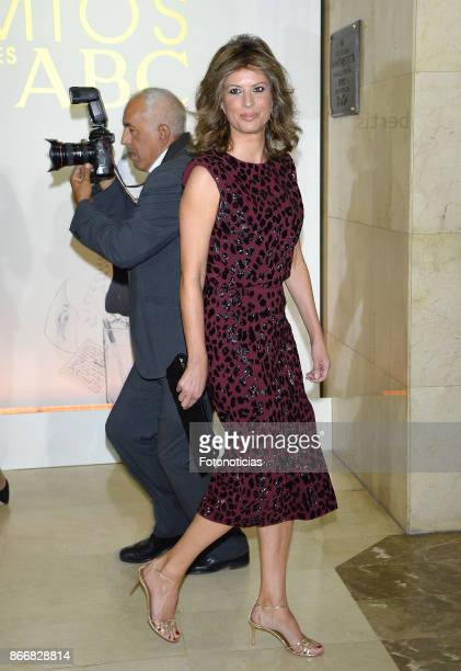 Elena Cue attends the 'Mariano de Cavia' 'Luca de Tena' and 'Mingote' Journalism awards dinner at Casa de ABC on October 26 2017 in Madrid Spain
