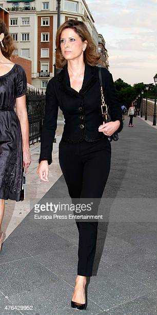Elena Cue attends the memorial service for Prince Kardam of Bulgaria at San Jeronimo el Real church on June 8 2015 in Madrid Spain