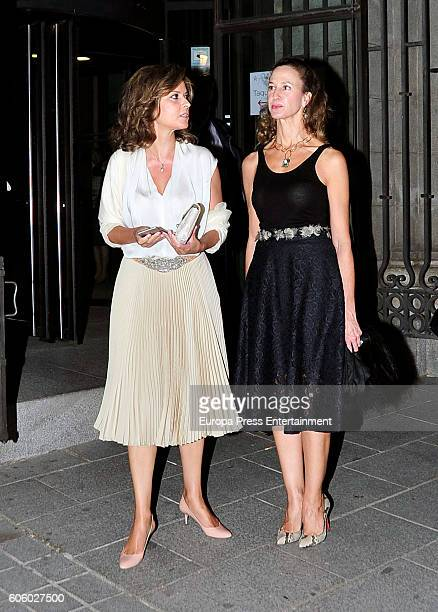 Elena Cue attends the opening of the Royal Theatre new season on September 15 2016 in Madrid Spain