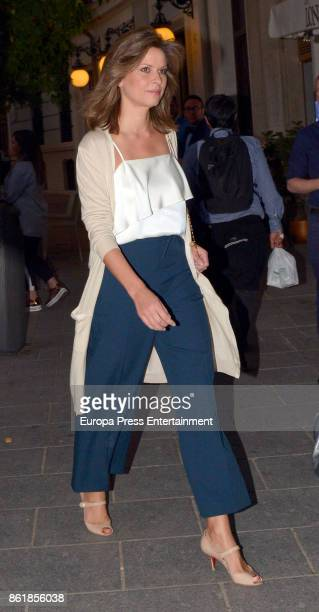 Elena Cue is seen arriving at Opera on October 11 2017 in Madrid Spain