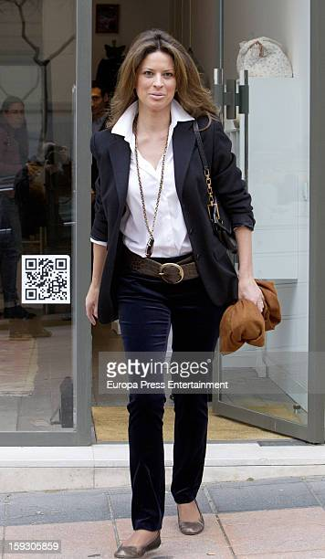 Elena Cue is seen on January 10 2013 in Madrid Spain