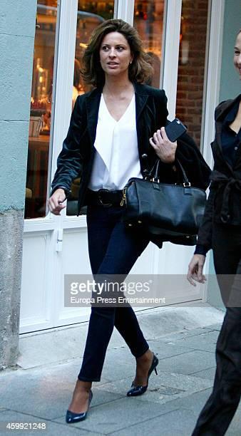 Elena Cue is seen on November 15 2014 in Madrid Spain