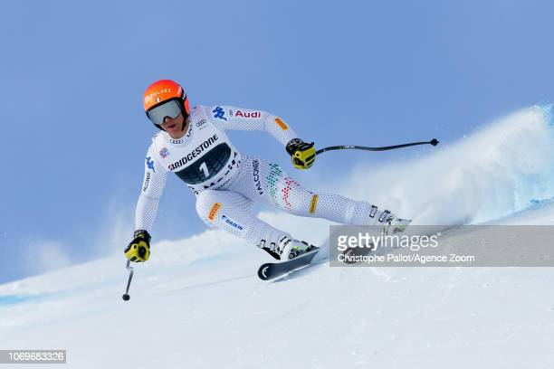 Elena Curtoni of Italy competes during the Audi FIS Alpine Ski World Cup Women's Super G on December 8 2018 in St Moritz Switzerland