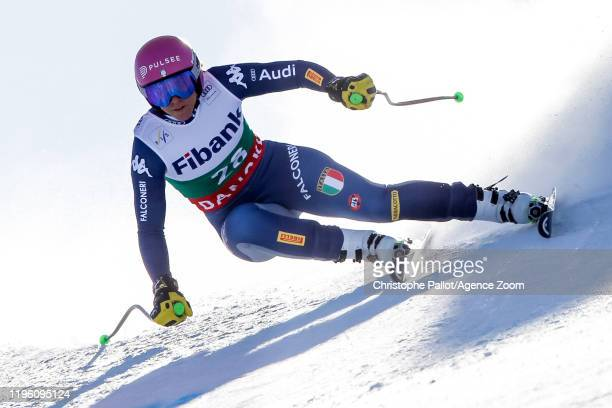 Elena Curtoni of Italy competes during the Audi FIS Alpine Ski World Cup Women's Downhill on January 25 2020 in Bansko Bulgaria