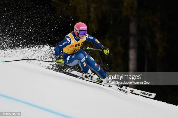 Elena Curtoni of Italy competes during the Audi FIS Alpine Ski World Cup Women's Alpine Combined on February 23, 2020 in Crans Montana Switzerland.