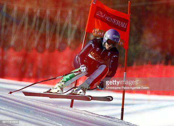 Elena Curtoni of Italy competes during the Audi FIS Alpine Ski World Cup Women's Downhill Training on December 17 2015 in Val d'Isere France