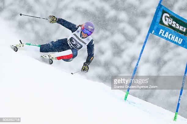 Elena Curtoni of Italy competes during the Audi FIS Alpine Ski World Cup Women's Giant Slalom on January 17, 2016 in Flachau, Austria.