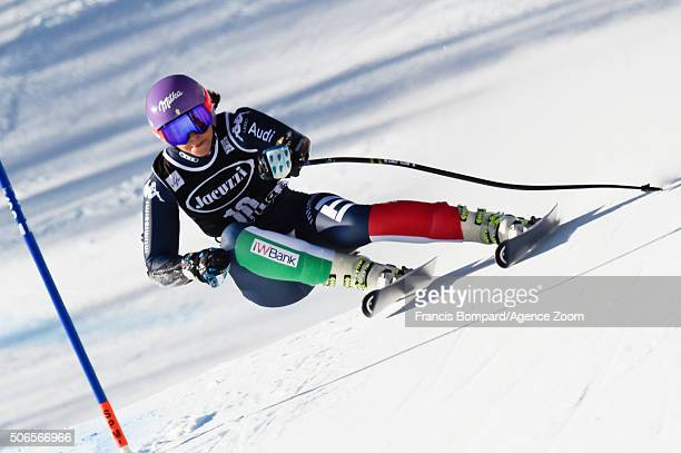 Elena Curtoni of Italy competes during the Audi FIS Alpine Ski World Cup Women's SuperG on January 24 2016 in Cortina d'Ampezzo Italy
