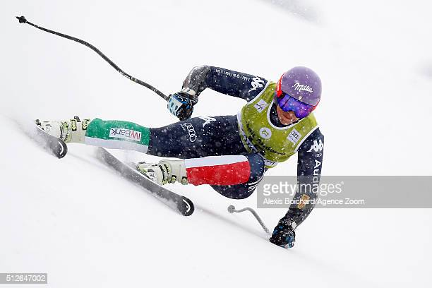 Elena Curtoni of Italy competes during the Audi FIS Alpine Ski World Cup Women's Super-G on February 27, 2016 in Soldeu, Andorra.
