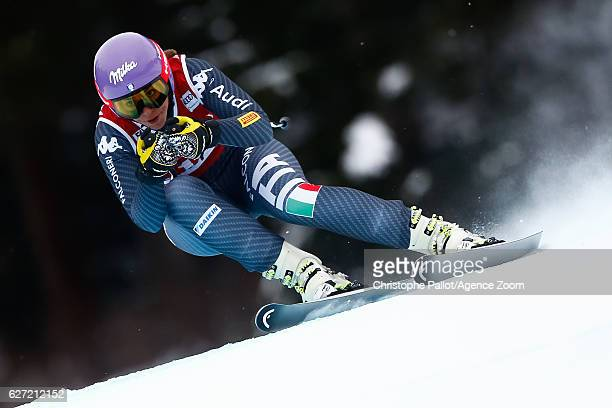Elena Curtoni of Italy competes during the Audi FIS Alpine Ski World Cup Women's Downhill on December 2 2016 in Lake Louise Canada