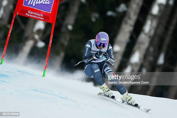 Elena Curtoni of Italy competes during the Audi FIS Alpine Ski World Cup Women's Super-G on January 22, 2017 in Garmisch-Partenkirchen, Germany